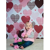 Etched Hearts Backdrop - 9796