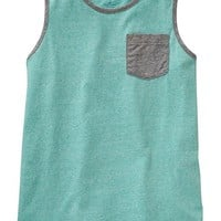 Old Navy Boys Heathered Pocket Tanks