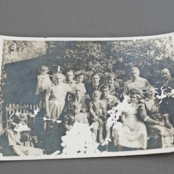 Antique Photograph Black And White Family Photo Germany WW1