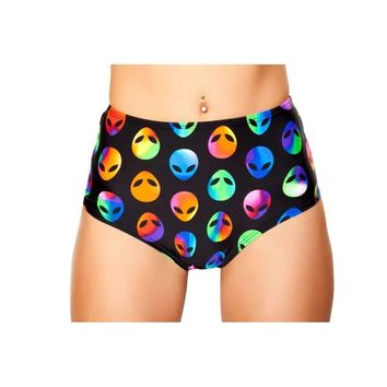 Roma Rave 3319 - Printed High-Waisted Puckered Shorts
