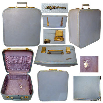 Vintage Lady Baltimore Luggage / 1950s Luggage / Burlesque Luggage / Pin-up Luggage
