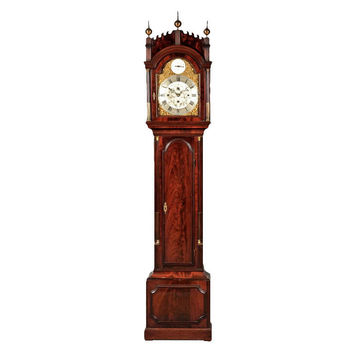 1STDIBS.COM - Alexander Westerhoff Antiques - George Jefferys - Late Georgian Mahogany Longcase Clock with Musical Chimes