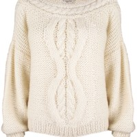 Tess Cream Cropped Sweater