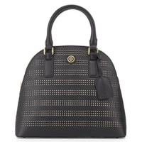 Tory Burch: Robinson Perforated Dome Satchel Bag