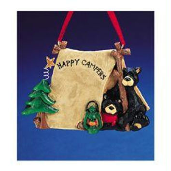 "12 Christmas Ornaments -  "" Happy Campers ""  Black Bears"