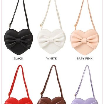 Yumetenbo original♪Heart ribbon shoulder BAG