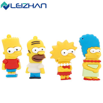 Simpsons Family USB Flash Drive 4gb 8gb 16gb 32gb 64gb USB disk pen thumb drive memory stick