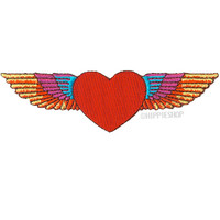 Winged Heart Patch on Sale for $3.99 at HippieShop.com