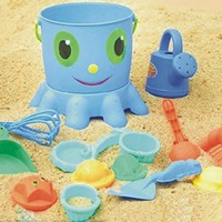 Vidatoy Forteen Pieces Sand Toy Sets Octopus Beach Toys 14 Pcs Sandbox Beach Set