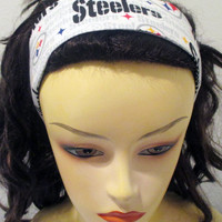 Pittsburgh Steelers Headband Wide Reversible Fabric Wrap Around Head Band