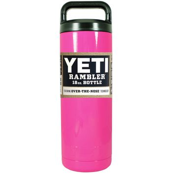 YETI Hot Pink 18 oz Rambler Bottle