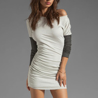 dolan Lurex Rib Shirred Dress in Star from REVOLVEclothing.com
