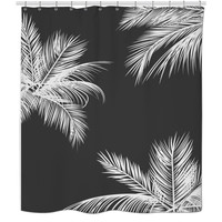 B&W Palm Trees Shower Curtain
