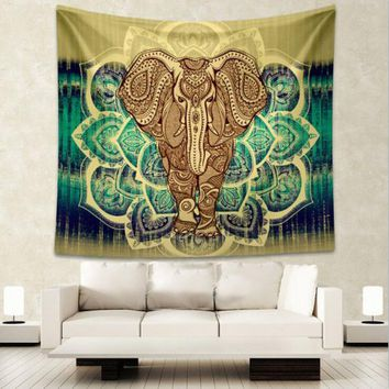 Elephant Tapestry Ornate Elephant Indian Style Popular Bedspread 130x150cm 150x200cm Wall Hanging Tapestry Sheet