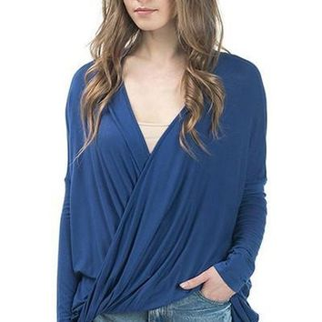 Valley Oversized Long Sleeve Drape Top