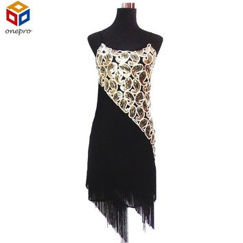 Sexy Women's 1920s Paisley Art Deco Sequin Tassel Glam Party Great Gatsby Dress Latin Tango Ballroom Salsa Dance Dress Big Size