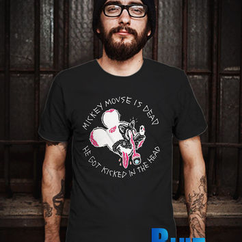 Mickey Mouse Is Dead Men T-Shirt - Mickey Face T-Shirt - Mickey Mouse T-Shirt - Disney Design T-Shirt for Men (Various Color Available)