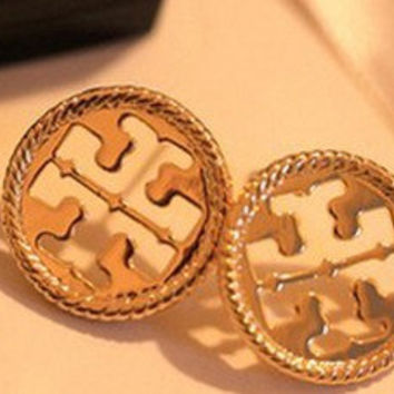 Tory Burch Studs Inspired Earrings. Gold Tone