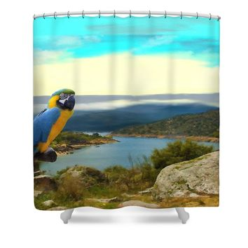 The Kingdom Of Heaven Is At Hand Shower Curtain for Sale by Liane Wright