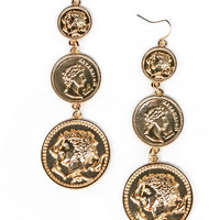 Coin Stack Earrings
