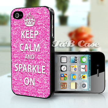 Keep Calm and Sparkle Pink iPhone 4 / 4s / 5 Case. FREE SHIPPING - Worldwide.