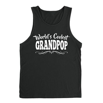 World's coolest grandpop Father's day birthday gift ideas for new grandpa proud grandfather gifts for him Tank Top