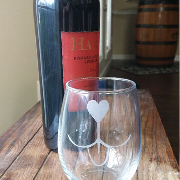 Engraved Wine Glass, Personalized Stemless Wine Glass, Wine Lovers, Etched Wine Glass, Dog Lovers