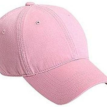 LMFON DECKY Washed Polo Cap Baseball Caps (Adjustable , PINK)