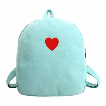 One Love Canvas Backpack (4 Colors)