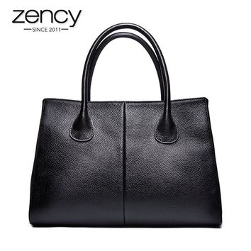 Genuine Leather Women Handbag Tote Messenger Bag Purse Satchel