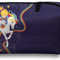 Rainbow Brite And Starlite Memories Travel Bag Cosmetic Bags Brush Pouch Portable Makeup Bag Zipper Wallet Hangbag Pen Organizer Carry Case Wristlet Holder