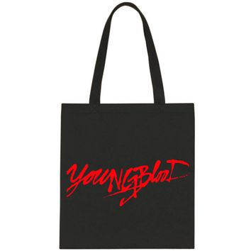 "5SOS 5 Seconds of Summer ""Youngblood"" Tote Bag"