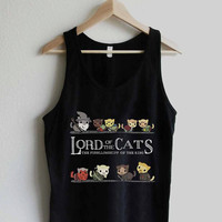 SelosoRebo Design TankTop lord of the cat, lord of the rings ScreenPrint