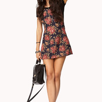 Floral Print Overall Dress