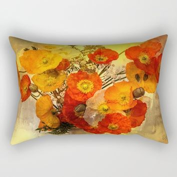 Poppy Expressions Rectangular Pillow by Theresa Campbell D'August Art