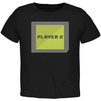 CUPUPWL Halloween Old School Gamer Player 2 Toddler T Shirt