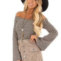 Taupe Faux Suede Button Down Mini Skirt