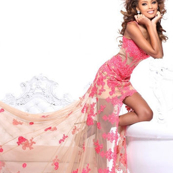 Hot Pink Sherri Hill Prom Dress 21161