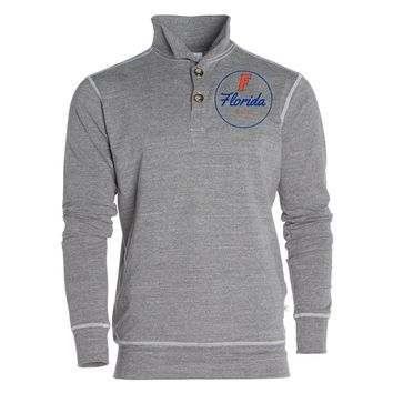 Blue Official NCAA University Of Florida Gators The Orange And Gator Nation Women's 1/4 Button Pullover