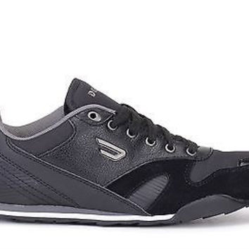 Diesel Mens Casual Sneakers E-Dynagg Black/Anthractie H1554