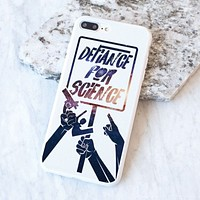 Defiance For Science - Space Background - White Case