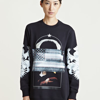 Givenchy Women's Printed Sleeve Sweatshirt