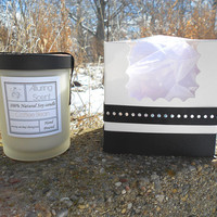 Coffee Bean wood wick, natural soy candle.