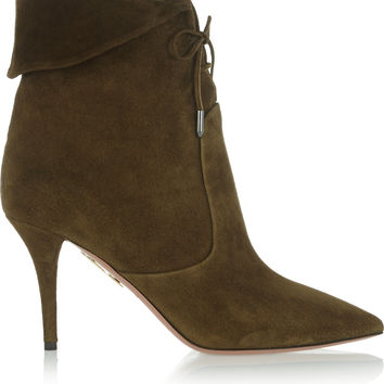 Aquazzura - Tribeca suede ankle boots