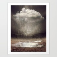 It's Okay. Even the Sky Cries Sometimes. Art Print by Soaring Anchor Designs