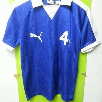 vintage rare 1980s puma sports soccer football made in romania shirts  number 1