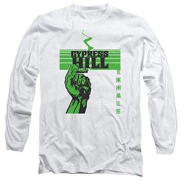Cypress Hill Long Sleeve T-Shirt Inhale Exhale White Tee