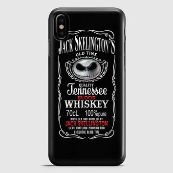 Jack Skellington Whiskey Daniels iPhone X Case | casescraft