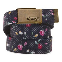Vans Floral Dots Fortified Reversible Web Belt (Black/True White)