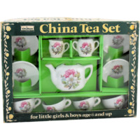 Vintage Chilton Childs Toy China Tea Set Made in Japan Complete Set Original Box 15 Pieces